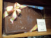 a ten pound chocolate bar