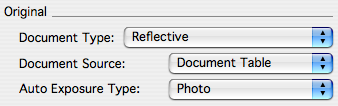 document attribute settings