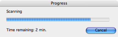 scan progress dialog