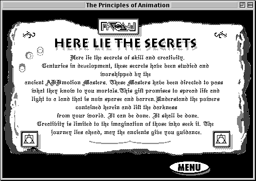 splash screen from The Principles of Animation