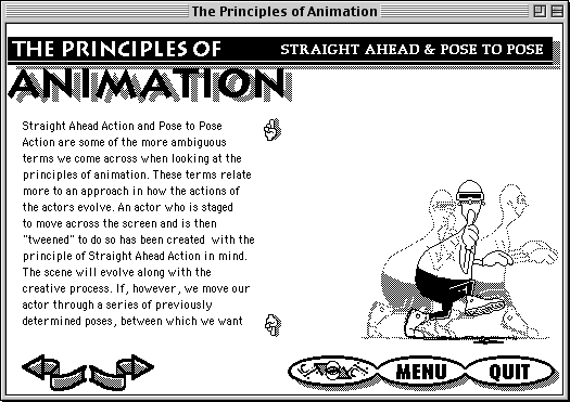 Straight Ahead & Post to Pose screen from The Principles of Animation