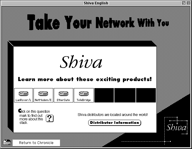 advertisement stack from Shiva Corporation, providing information on their various routers and other network products