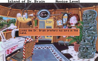 Looks like Dr. Brain prefers his bird in the hand.