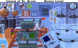 the underground laboratory from The Island of Dr. Brain